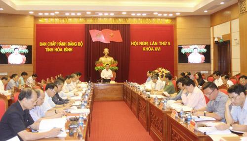 Khai mạc Hội nghị lần thứ 5, BCH Đảng bộ tỉnh khóa XVI