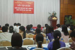 Đại biểu 26 tỉnh, thành phố đã tham dự tập huấn chấn đoán ngộ độc thực phẩm và bệnh truyền qua thực phẩm.