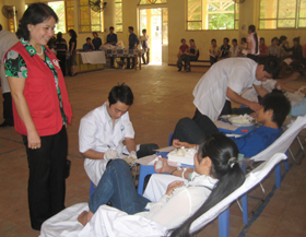 Thành phố Hòa Bình luôn là đơn vị dẫn đầu toàn tỉnh về công tác hiến máu tình nguyện.
