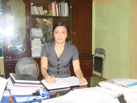 Bùi Thị Chung có nhiều đóng góp quan trọng trong sự nghiệp GD&ĐT của thành phố Hoà Bình.