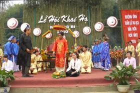 Các điển hình tiêu biểu của văn hóa Mường Hòa Bình được phục dựng trong Lễ hội khai hạ Mường Bi tổ chức hàng năm tại xã Phong Phú (Tân Lạc).