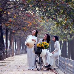 Thiếu nữ Hà Nội với mùa thu.