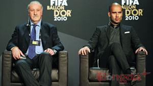 Del Bosque và Josep Guardiola