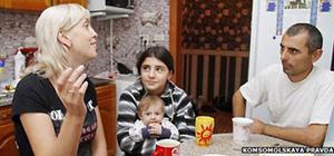 Balyaeva cùng chồng và con gái Irina. Ảnh: Pravda