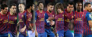Mười cầu thủ Barca có tên trong đề cử sơ bộ. Ảnh: MD.