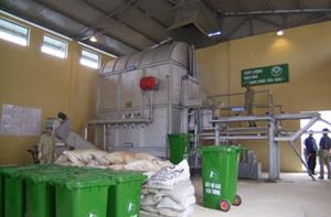 Dây chuyền xử lý rác thải tại Nam Sơn (Sóc Sơn).