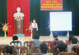 Bài hùng biện về tư tưởng Hồ Chí Minh của thí sinh trường THCS Tu Lý gây xúc động đặc biệt với người xem.