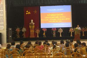 Lễ khai giảng lớp đại học điều dưỡng đầu tiên tại tỉnh.