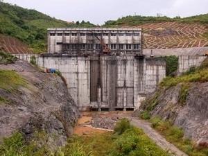 Đập thủy điện Sông Tranh 2 tại Bắc Trà My (Ảnh: TTXVN)