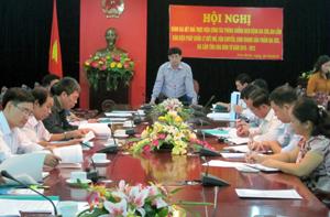 Đồng chí Nguyễn Văn Dũng, Phó Chủ tịch UBND tỉnh, Trưởng BCĐ  phát biểu kết luận hội nghị.