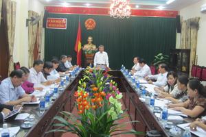 Đồng chí Hoàng Thanh Mịch, Trưởng Ban Tuyên giáo Tỉnh ủy, Trưởng Ban VHXH&DT chủ trì buổi giám sát.