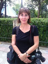 Nhà báo Mỹ Catherine Karnow (Ảnh: Khánh Lan)