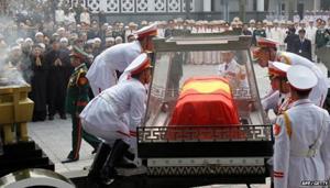Ảnh lễ tang Đại tướng Võ Nguyên Giáp trên báo AFP