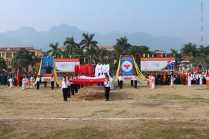 Toàn cảnh lễ khai mạc Đại hội TDTT huyện Yên Thuỷ lần thứ VI.