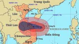 Hình ảnh đường đi và vị trí bão số 11. (Ảnh: TTDBKTTVT.Ư)