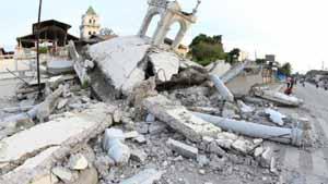 Trận động đất đã làm hư hại nghiêm trọng cơ sở hạ tầng ở Bohol, Philippines (Ảnh: AP)