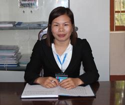 """Với những thành tích đã đạt được, chị Vũ Thị Hương vinh dự được Tỉnh ủy tặng bằng khen cá nhân tiêu biểu trong phong trào thi  đua """"Dân vận khéo"""" giai đoạn 2011- 2013."""