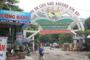 Khu du lịch suối khoáng Kim Bôi do Công ty TNHH MTV Du lịch Công đoàn Việt Nam đầu tư đáp ứng nhu cầu của du khách. Ảnh: HL