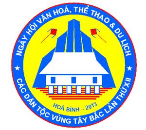 Lô gô biểu trưng chính thức của Ngày hội VH- TT&DL các dân tộc vùng Tây Bắc lần thứ XII tại Hoà Bình năm 2013.