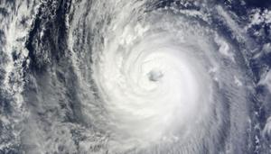 Hình ảnh vệ tinh cơn bão Phanfone (ảnh: rappler.com)