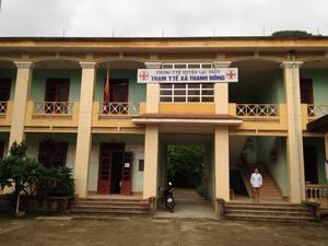 Trạm y tế xã Thanh Nông đạt chuẩn năm 2013 góp phần nâng cao chất lượng CSSK ban đầu cho nhân dân.