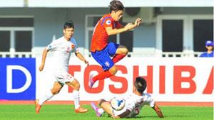 Chênh lệch về đẳng cấp đã giúp ĐT U19 Hàn Quốc có trận thắng dễ dàng. (ảnh: Tuổi Trẻ)