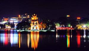 Khu vực hồ Hoàn Kiếm có 4 điểm trang trí hoa và ánh sáng bao gồm: khu vực tượng đài Lý Thái Tổ, đoạn đường Đinh Tiên Hoàng từ trụ sở UBND TP đến cầu Thê Húc, khu vực trước tượng đài vua Lê và phố Hàng Khay.