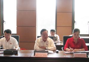 Đoàn đại biểu QH tỉnh thảo luận tại tổ về tình hình kinh tế - xã hội