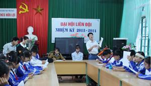 Học sinh trường THCS Hữu Lợi (Yên Thủy) được tuyên truyền, phổ biến các kiến thức  về SKSS vị thành niên.