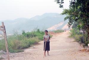 Người tâm thần lang thang trên đê Đà Giang, phường Đồng Tiến (TPHB) cầm theo gậy, nguy cơ tiềm ẩn nguy hiểm cho cộng đồng.