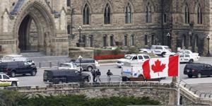 Quang cảnh phía trước tòa nhà Quốc hội Canada. (Ảnh: Reuters).