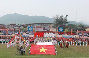 Toàn cảnh lễ khai mạc HKPĐ tỉnh lần thứ VII-năm 2014.
