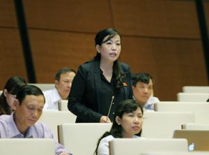 Đại biểu Nguyễn Thanh Hải phát biểu tại hội trường.