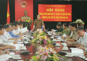 Đồng chí Nguyễn Văn Quang, Phó Bí thư Tỉnh ủy, Chủ tịch UBND tỉnh kết luận hội nghị.