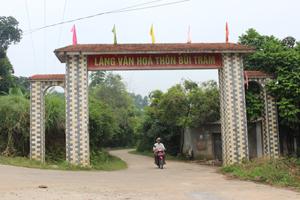 Đường GTNT thôn Bùi Trám, xã Hoà Sơn (Lương Sơn)  được cứng hoá theo tiêu chí chuẩn NTM.
