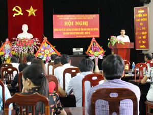 Hội nghị thông tin về kết quả Đại hội Đảng bộ tỉnh lần thứ XVI