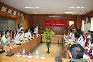 Lãnh đạo Sở Y tế phát biểu tại lễ khai mạckhóa đào tạo, chuyển giao kỹ thuật.