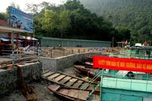 Khu vực lên xuống cáng Thung Nai đã trở nên thông thoáng.