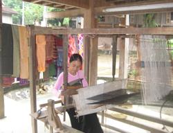 Nghề dệt thổ cẩm được các gia đình người Thái - Mai Châu lưu giữ qua nhiều thế hệ