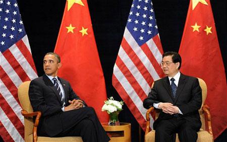 Tổng thống Mỹ B.Obama và Chủ tịch Trung Quốc Hồ Cẩm Đào gặp nhau bên lề G-20.