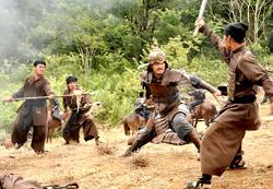 Một cảnh chiến trận trong Khát vọng Thăng Long
