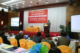 Đồng chí Bùi Văn Cửu, Phó Chủ tịch UBND tỉnh phát biểu tại hội thảo.