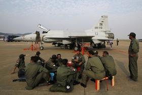 Máy bay JF-17 tại Triển lãm hàng không Chu Hải lần thứ 8.