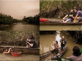 Những hình ảnh hậu trường làm phim The River của nhóm Yeti.