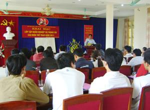 34 học viên tham dự lớp tập huấn nghiệp vụ trọng tài các môn thể  thao.