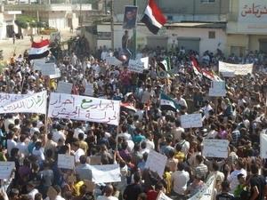 Biểu tình chống Chính phủ Syria ở Hula, gần Homs. (Nguồn: Reuters)