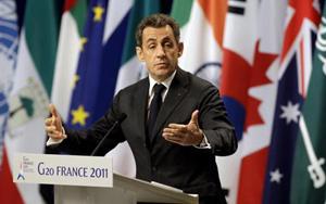 Tổng thống Pháp Nicolas Sarkozy chủ trì hội nghị thượng đỉnh G20 tại Cannes.