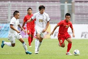 U23 Việt Nam (áo đỏ) sẽ tiếp tục giành chiến thắng trước Myanmar? (ảnh: Thục Linh)
