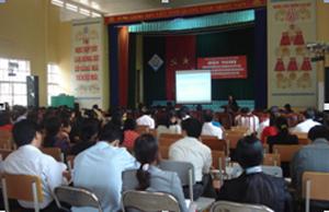 Hội viên Hội nông dân huyện Đà Bắc tham gia hội thảo.
