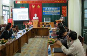Quang cảnh lễ khai trương trang thông tin điện tử Sở LĐ-TB&XH.